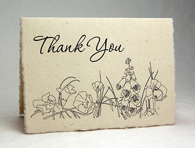 Seeded Thank You Cards