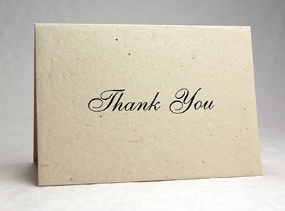 Seeded Lotka Thank You Card