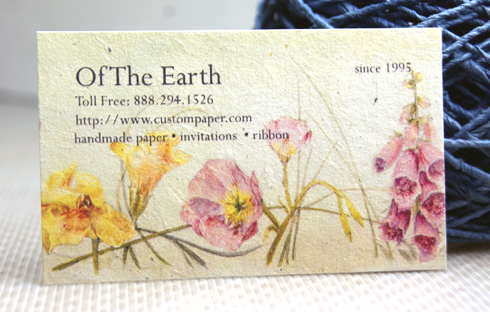 seed paper with color printing
