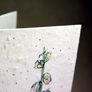 flower print seed paper invitation