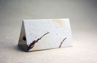 die cut cotton seed paper place cards