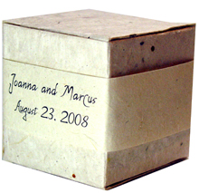 Lotka Seeded Favor Box - Names & Date