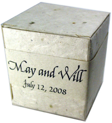 Lotka Seeded Favor Box - Names and Date