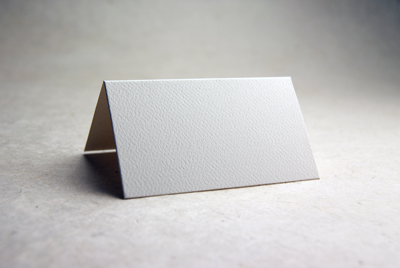 die cut felt paper place card