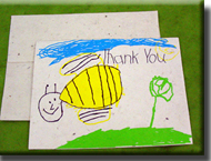 Kids Seeded Thank You Cards