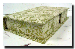 Handmade Golden Garden Notecard Box