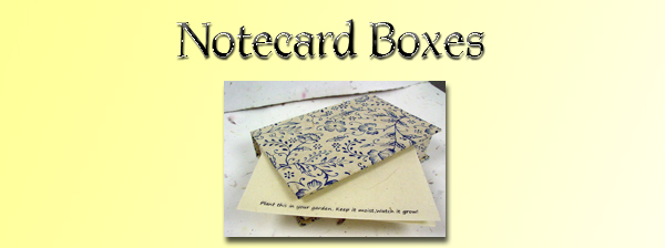 Notecard Boxes with seeded notecards