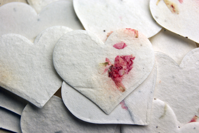 Click for petal paper seed paper hearts