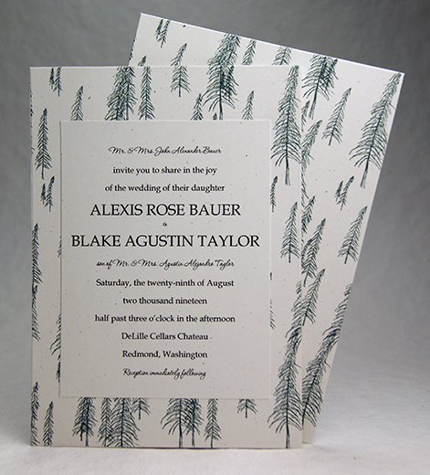 Recycled Forest Print Invitation