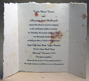 "6"" x 9"" Handmade Paper (text printed directly)"