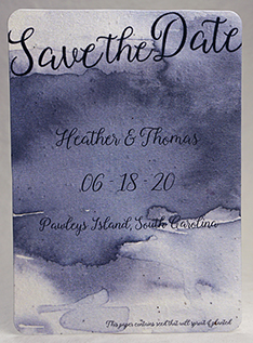 watercolor seed paper invitation 5x7