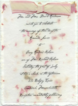 Example of a vellum overlay