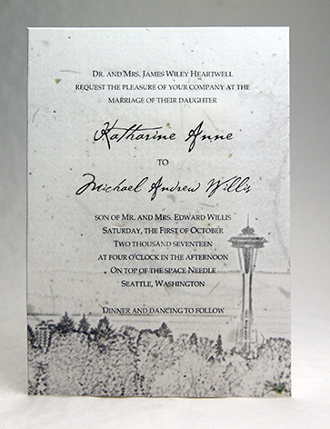 29s seed paper invitation 5x7