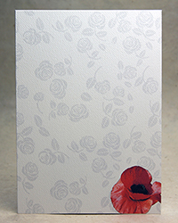 Red Poppy and Roses