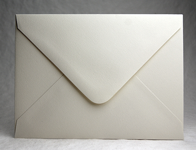 Recycled felt baronial envelope