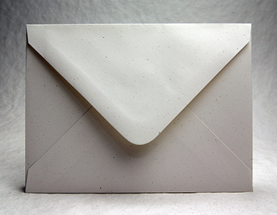 Recycled baronial flap envelope