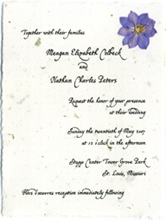 "4.5"" x 6"" panel invitation with lavender larkspur"