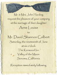 Click to order our biodegradable seed paper invitations