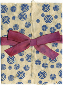 6x9 Bifold Wrap with Bullseye and Hanah Silk Victorian Rose