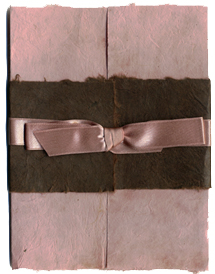 6x9 bifold wrap with chocolate lotka and acorn satin