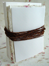 cotton seed paper with eco-twist ribbon printable kits