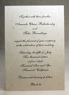 lotka cut edge seed paper invitation 5x7
