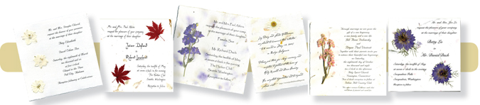 Pressed Flower Invitations