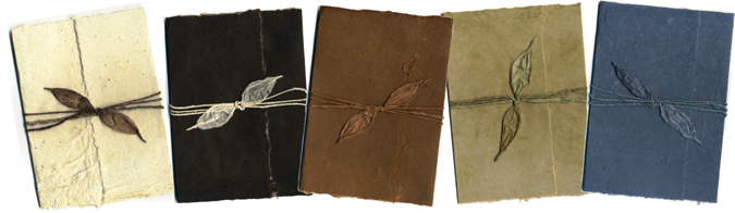 bi-fold style natural dyed invitations