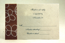 Handmade and Recycled Reply Cards