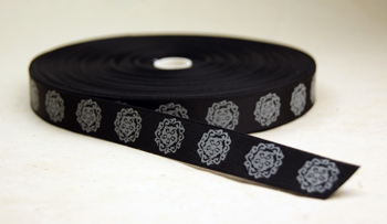 polyester double faced satin ribbon with print