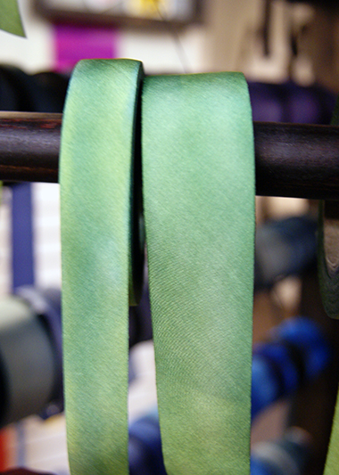 silk ribbon on the rack